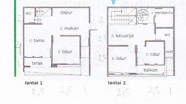 Denah Rumah 2 Lantai Ukuran 5x6