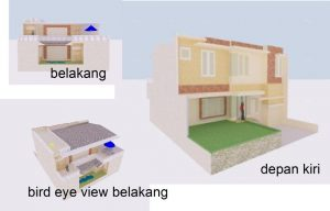 Rumah tinggal 2 lantai