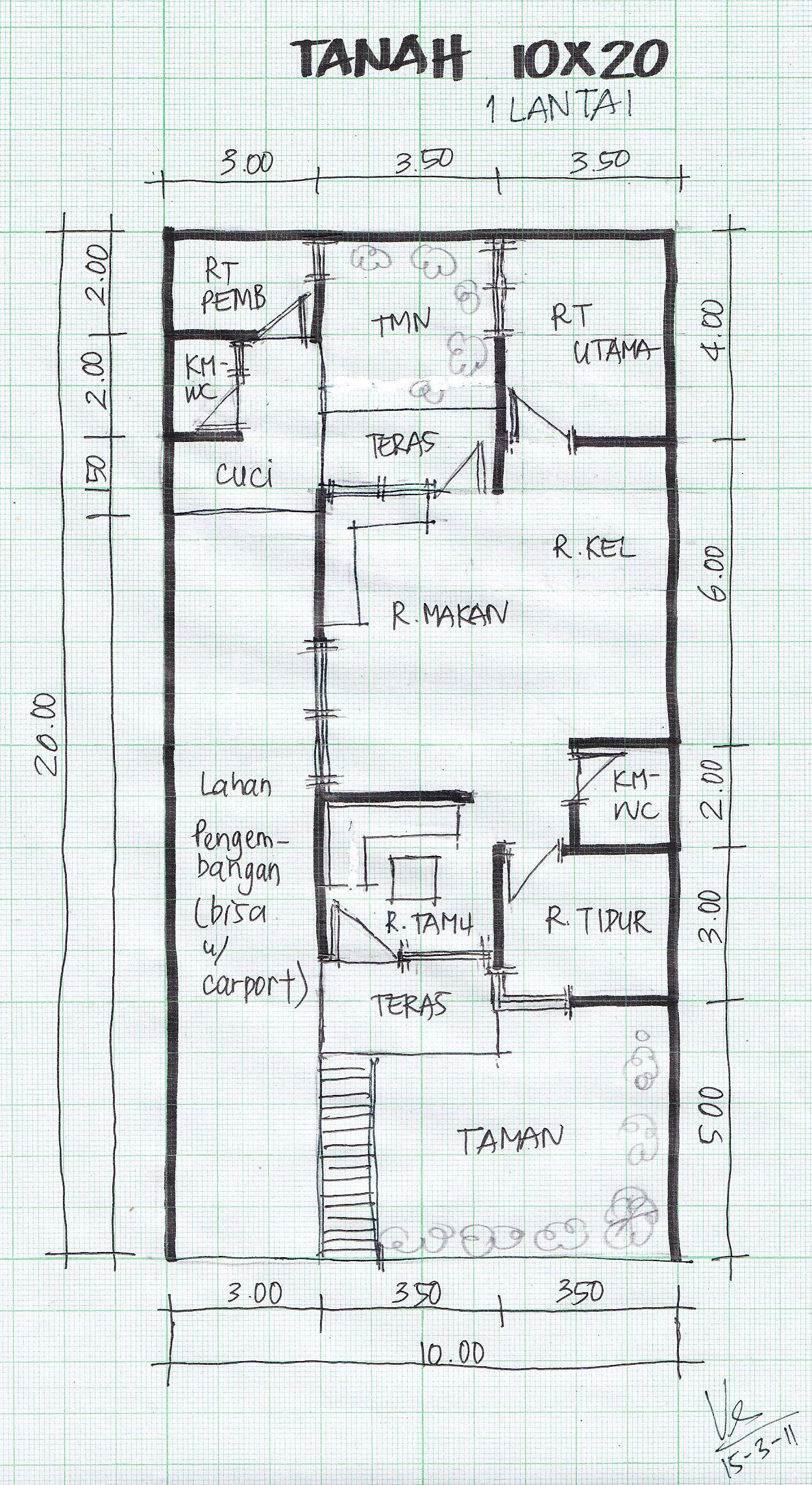 103 Gambar Rumah Minimalis 2 Lantai Lebar 10 Meter Gambar Desain