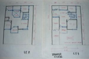 denah lebar 12 meter gambar rumah