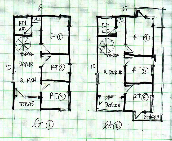 ukuran 6 x 12 m yang gambar desain rumah minimalis ukuran 6 x 12 m 6 x ...