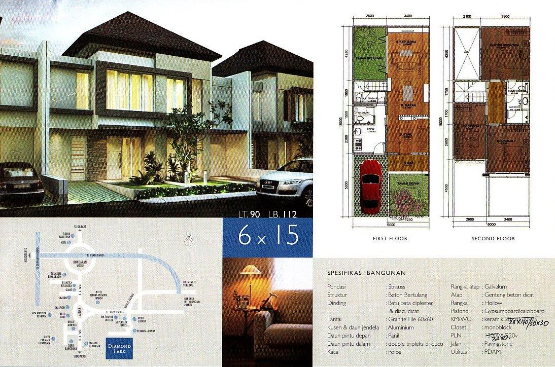 Desain Rumah Ukuran 6x15 2 Lantai Feed News Indonesia