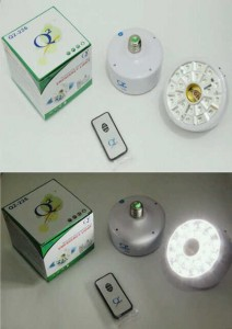 Double Fitting 22 LED Emergency Lamp with remote control