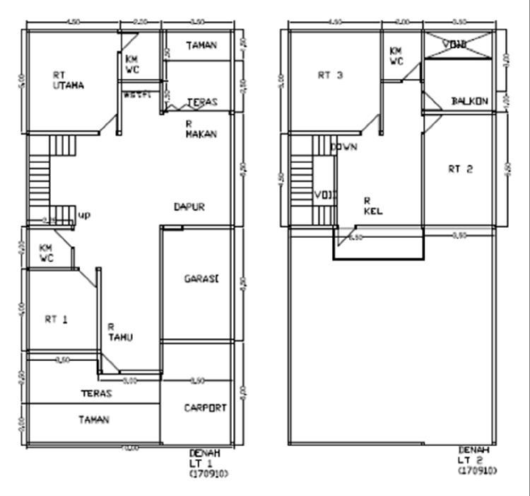 desain denah 10x20 meter | Gambar-Rumah-Idaman.com