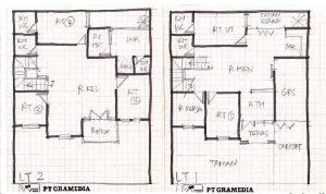 denah rumah 12x12